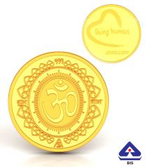 P.N.Gadgil Jewellers 2 gms Being Human & Om Gold Coin