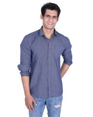 Roller Fashions Navy Blue Solid Long Sleeves Casual Shirt (Code - BSNY04)