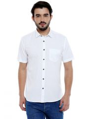 Roller Fashions Men's Solid Casual White Shirt (Code - C3SR0W)