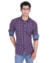 Roller Fashions Red Checked Long Sleeves Casual Shirt (Code - CHR05)