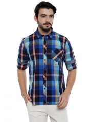 Roller Fashions Blue Checked Long Sleeves Casual Shirt (Code - TWB06)