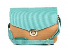 Rysha Tan & Green PU Solid Crossbody Sling Bag for womens - RY1016