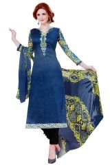 Dress Materials - Biba Embroidered Salwar Suit Dupatta Material UC127