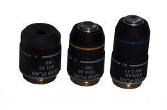 Cameras, Optics - LABOVISION DIN SEMI PLAN Microscope Objectives 4x 10x 40x