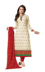 Ellis Harvey Cream Embroidered Straight Salwar Suit Baby