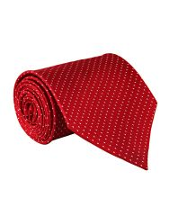 JL Collections Premium Red Polka Dots Cotton & Polyester Men's Formal Necktie