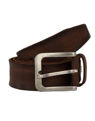 JL Collections Men's Casual Brown Single Hide Genuine Leather Belt
