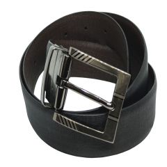 JL Collections Cross Liner Men Formal Black and Brown Genuine Leather Reversible Belt (Code - JL_BL_5-CROSSLINER)