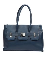 Jl Collections Women's Leather Blue Shoulder Bag