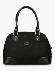 JL Collections Women's Leather & Jute Black Shoulder Bag Black - (Code - JLFB_51_BK)