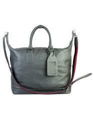 Jl Collections Women's Leather Grey Tote Bag