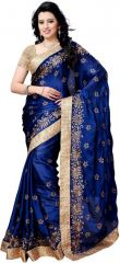Holyday Womens Chiffon Saree, Nevy Blue (bancidhar_beauty_nevy Blue)