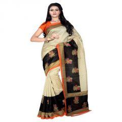 Sonal Trendz Beige Color Printed Bhagalpuri Saree (code - Stshc500913)