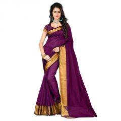 Chirmi Magenta Color Printed Banglori Silk Saree With Blouse Chrm-rv-bs03