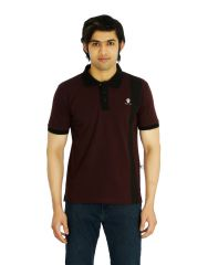 Eupli Cotton Polo Neck Maroon Men's T Shirts