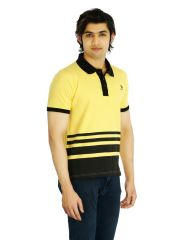 Eupli Cotton Polo Neck Yellow Men's T Shirts