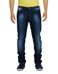 Eupli Denim Faded Navy Blue Men's Jeans