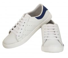 Blinder Men's White Blue Casual Shoes