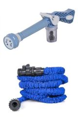 ININDIA Combo 10 Metre Hose Pipe and 7 in 1 EZ Car Washing System