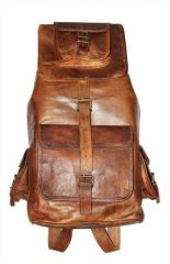 ININDIA  School dark brown 16 L Backpack  (brown)