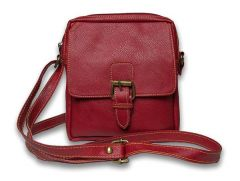 ININDIA Pure Leather Girls Ladies Casual Travel Smart Red Shoulder Sling Bag