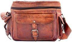 ININDIA Vintage Leather Brown Travel Camera Bag - Men & Women