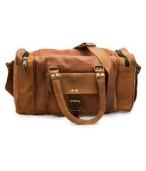 ININDIA Elegant Ultra-Brown Solid Duffle Bag For Men/Women