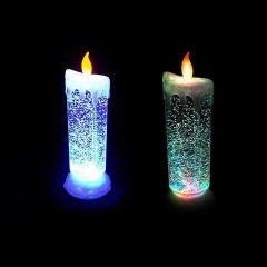 ININDIA Auto Rotating Glitter Rechargeable Led Candle Cum Light Show