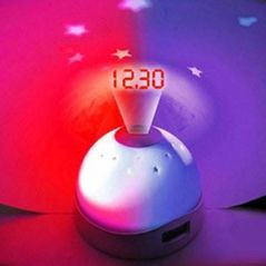 ININDIA Time Projection LED Digital Table Clock Sky Night Projector Lamp