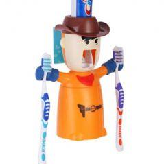 ININDIA Warrior Toothpaste Dispenser - Can Hold 2 Brushes ( RANDOM COLOUR)
