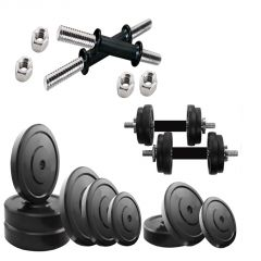 "Diamond Home Gym Package of  24Kg Plates with 14"" Dumbbell Rods For Perfect Health & Fitness"