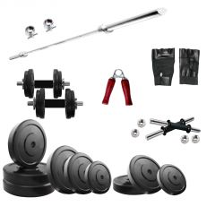 Diamond Home Gym Package of 80Kg with 3FT Plain Rod & Accessories for Indoor Workout