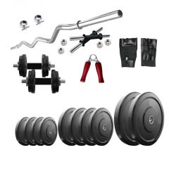 Diamond Home Gym of 40Kg Weight With 3FT Curl Bar & Accessories For Strengtht & Fitness