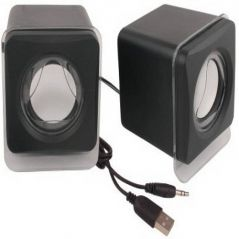 VU4 Mini USB Speaker Laptop/Desktop Speaker (Black)