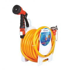 "AquaHose Household Water Hose Reel Orange 15mtr 12.5mm(1/2"") - 50' (Fixed Type) Hose Pipe"