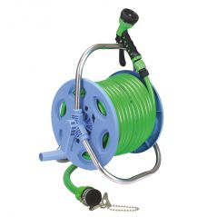 AquaHose Garden Hose Reel Green 30mtr (12.5mm ID) -100' (Revolving Type) Hose Pipe