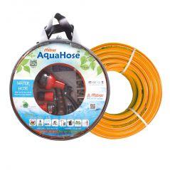 """AquaHose Water Hose Set Orange 15mtr 12.5mm(1/2"""") - 50' Hose Pipe"""
