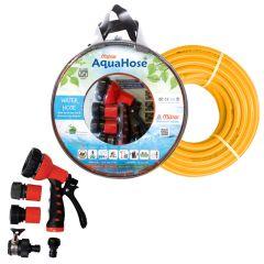"""AquaHose Water Hose Set Orange 15mtr 20mm(3/4"""") 50' Hose Pipe"""