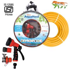 "AquaHose Water Hose Set Orange 15mtr 12.5mm(1/2"") - 50' Hose Pipe"