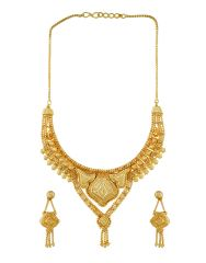 3S Fashion Trends Gold Plated Necklace Set 3S0001