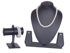 White Pearl Necklace Set - 3S0008