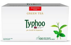 Typhoo Green Tea Traditional Tulsi - 100 Heat Sealed Envelope Tea Bags