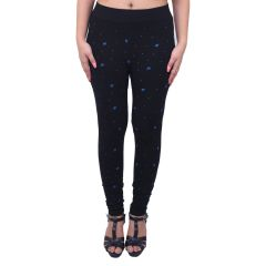 Ziva Fashion Black Printed Free Size Jeggings  - (  J6001-FR )