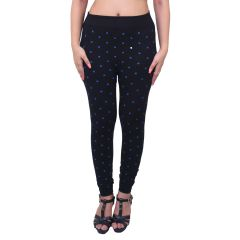 Ziva Fashion Black Doodle Print Free Size Jeggings  - (  J6009-FR )