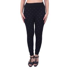 Ziva Fashion Black Doodle Print Free Size Jeggings  - (  J6012-FR )