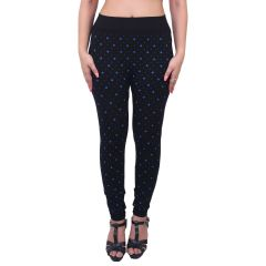 Ziva Fashion Black Floral Print Free Size Jeggings  - (  J6013-FR )