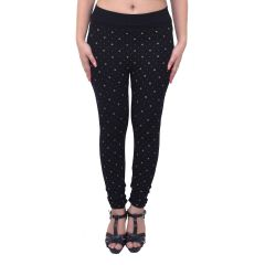 Ziva Fashion Black Floral Print Free Size Jeggings  - (  J6015-FR )