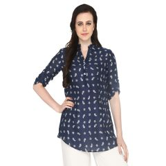 P-Nut Women's Cotton Paisley Casual Top OM417A