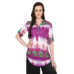 P-Nut Women's Cotton Printed Casual Top OM420A