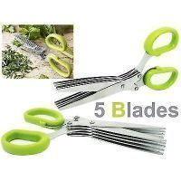 5 Blades Scissors Vegetable Chopper Paper Shredder Cutting Scissor Kitchen